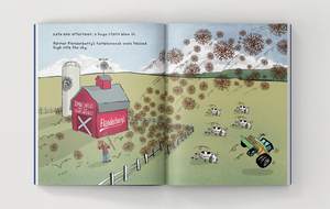 the adventures of the tooth brigade book - sneak peek page - farmer flanderberry's farm