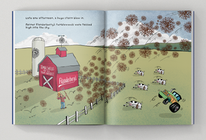 Tooth Brigade Storybook Sneak Peek Page - farmer flanderberry's