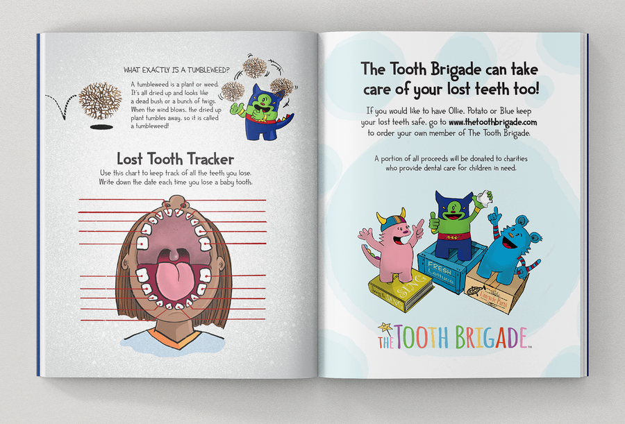 The Tooth Brigade Book + Tooth Pillow Gift Set - Potato