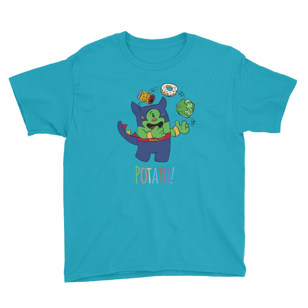 Tooth Brigade T-Shirt - Potato - Cerulean