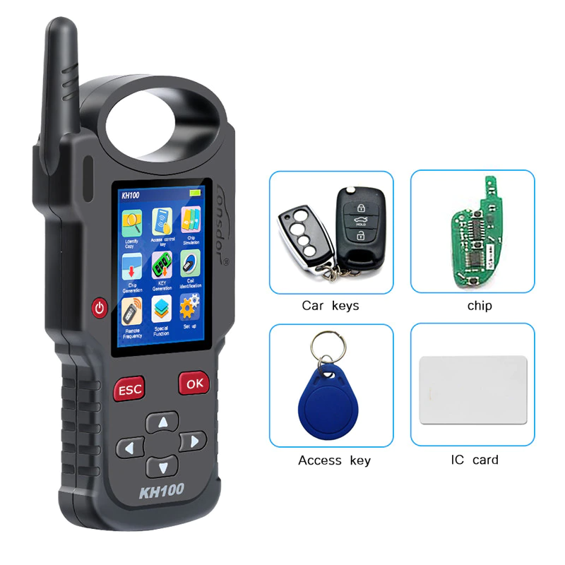 LONSDOR KH100+ Hand-Held Remote Key Programmer key/simulate/ generate chip/generate remote