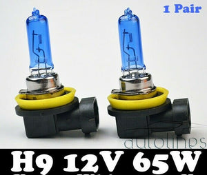 H9 12V 65W Xenon White 6000k Halogen Car Headlight Lamp Globes / Bulbs LED HID