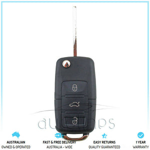 Fits VW VolksWagen 5G0 959 753AB Golf Polo Tour 3 Button Flip Remote Key FOB
