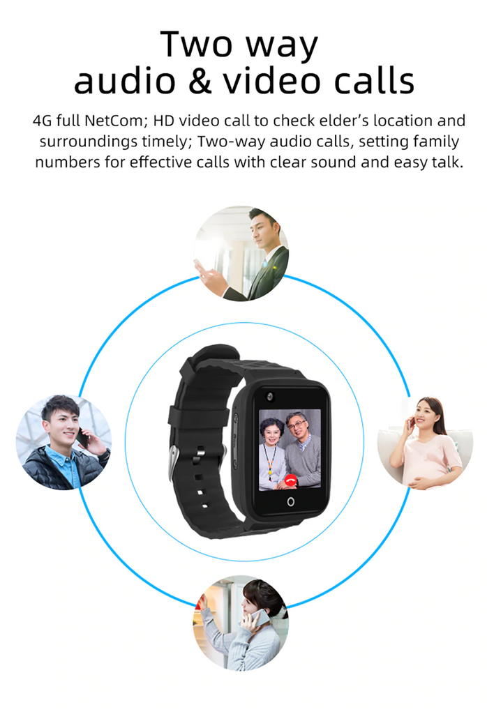 4G GPS Tracker Smart Children Personal Watch Camera SOS Video Call Locator