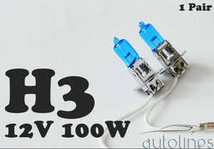 H3 12V 100W Xenon White 6000K Light Fog Car Headlight Lamp Globes Bulbs LED HID