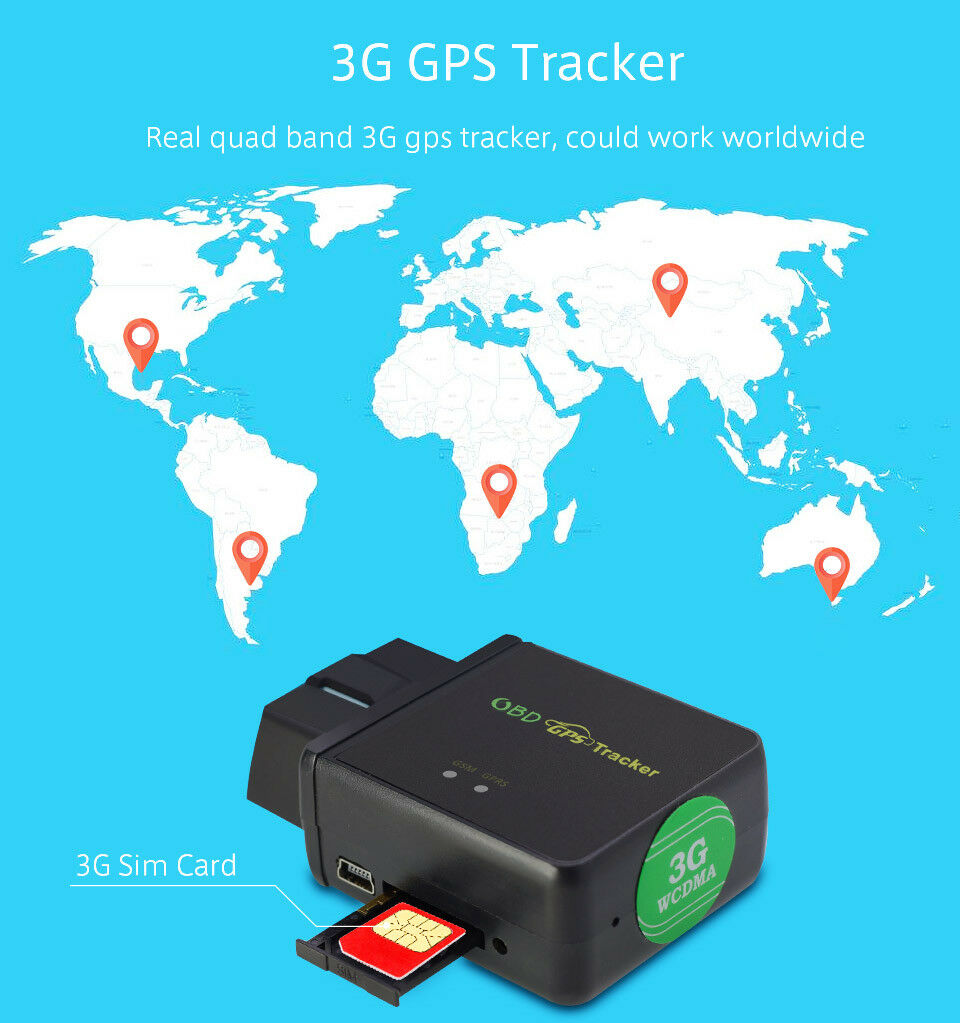 3G 4G OBDII GPS Mini Tracker Live Realtime Vehicle Car Spy OBD2 Tracking Device