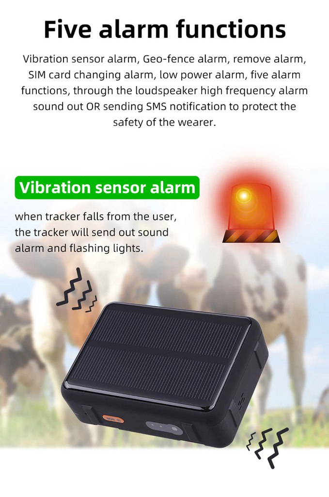 Cow Locator 4G LTE GPS Tracker with Solar Power 9000mAh Long Standby Sheep Horse