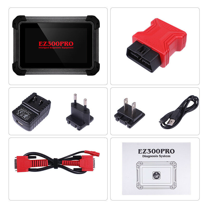 XTool EZ300 Pro OBD2 Engine ABS SRS Trans TPMS Fault Reset Diagnostic Scan Tool
