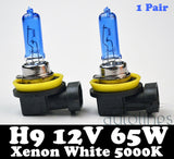 H9 12V 55W Xenon White 5000k Halogen Car Headlight Lamp Globes / Bulbs LED HID