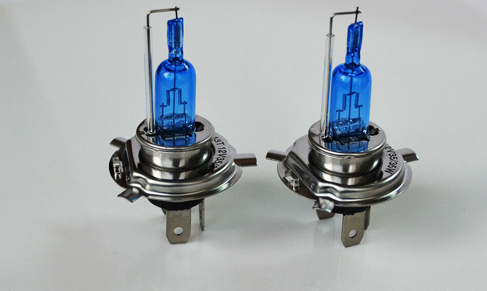 H4 HIR 35/35W P43t 12V Xenon White 5000K Motorbike Bike Headlight Bulbs Globes