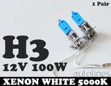 H3 12V 100W Xenon White 5000K Light Fog Car Headlight Lamp Globes Bulbs LED HID