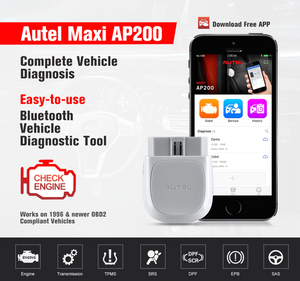 Autel AP200 Bluetooth OBD2 Diagnostic Scan Tool DPF SRS TMPS SAS EPB Engine ABS
