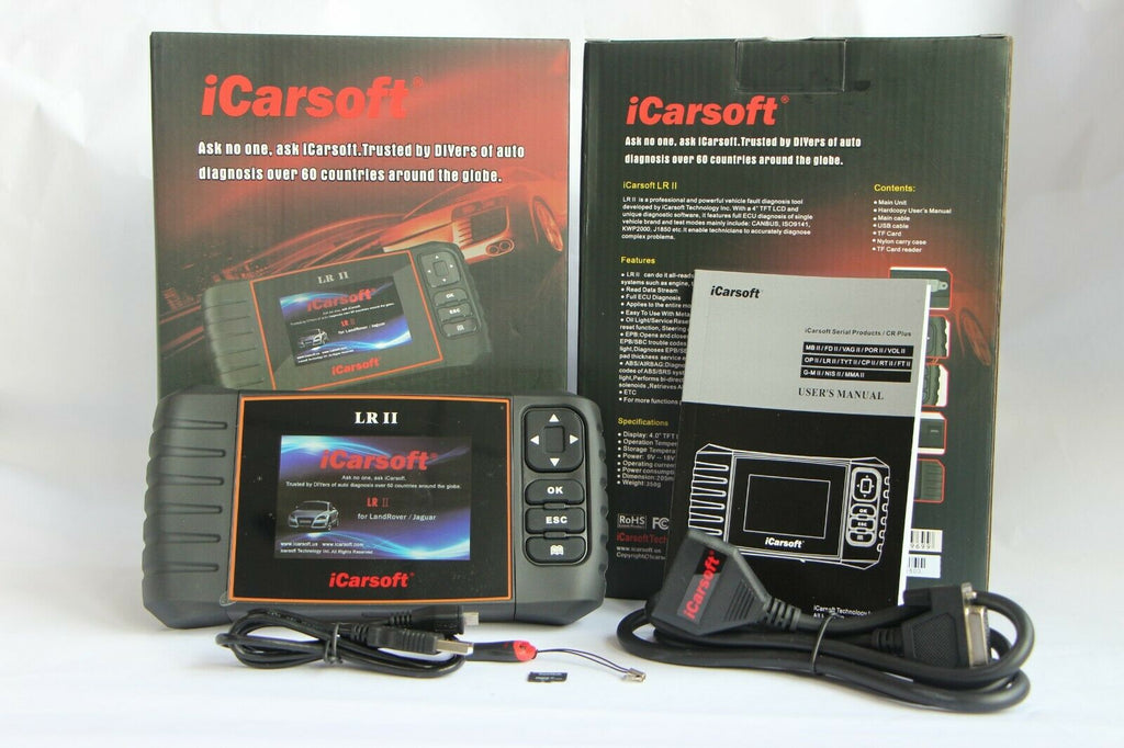 iCarsoft LR II Fits Land Rover & Jaguar OBD2 Diagnostic Code Reset Scanner Tool