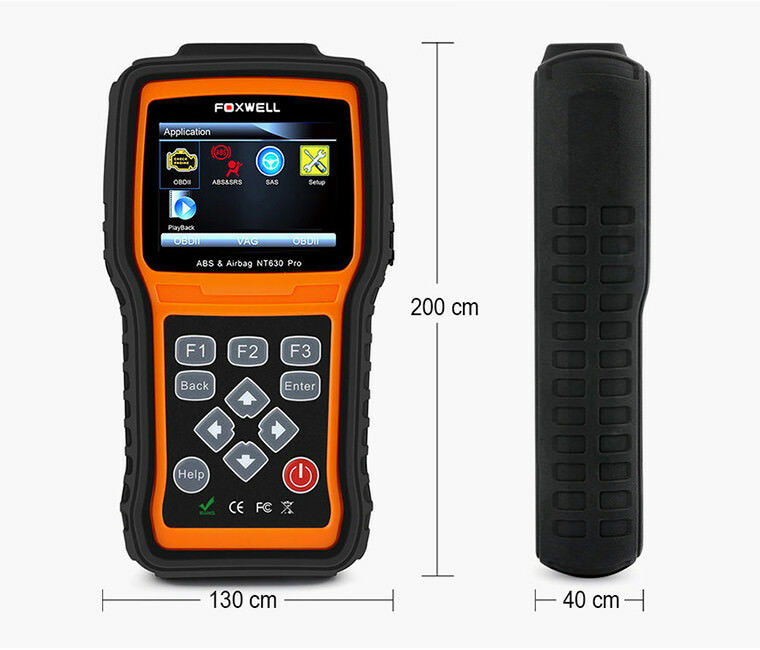 FOXWELL NT630 OBD2 Diagnostic Scan ABS+SAS+SRS Airbag Crash Data Reset Tool