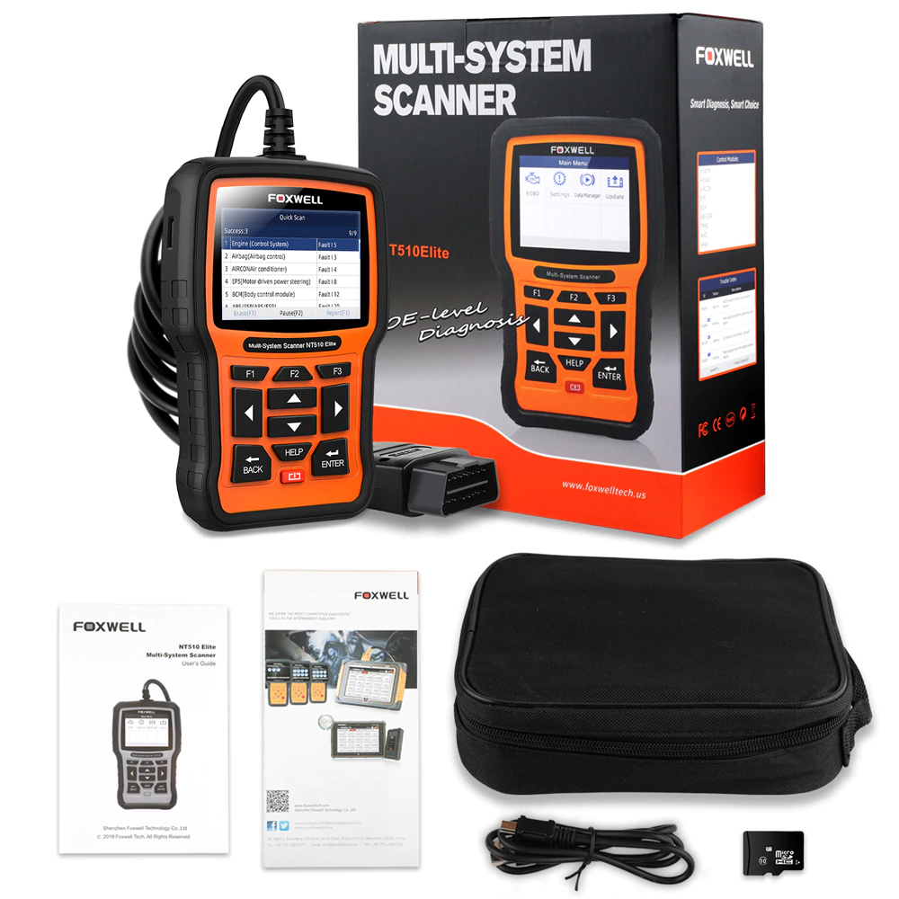 FOXWELL NT510 Full System OBD2 Auto Fault Code Reader Reset Diagnostic Scan Tool Fits GM