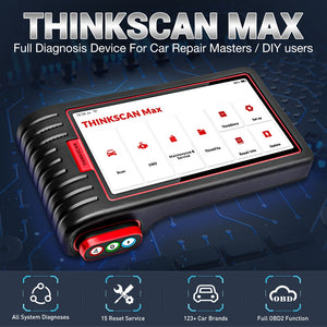 Thinkcar Thinkscan Max Full System Professional OBD2 Scanner Automotive 28 Reset Function