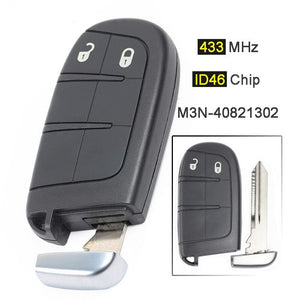 Fits Jeep Grand Cherokee M3N-40821302 2 Button Remote Car Key 433MHz 2014-2016