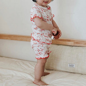 Red floral pajamas