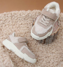 Load image into Gallery viewer, Beige Fleece Trainers Shoes