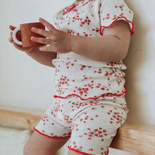 Load image into Gallery viewer, Red floral pajamas