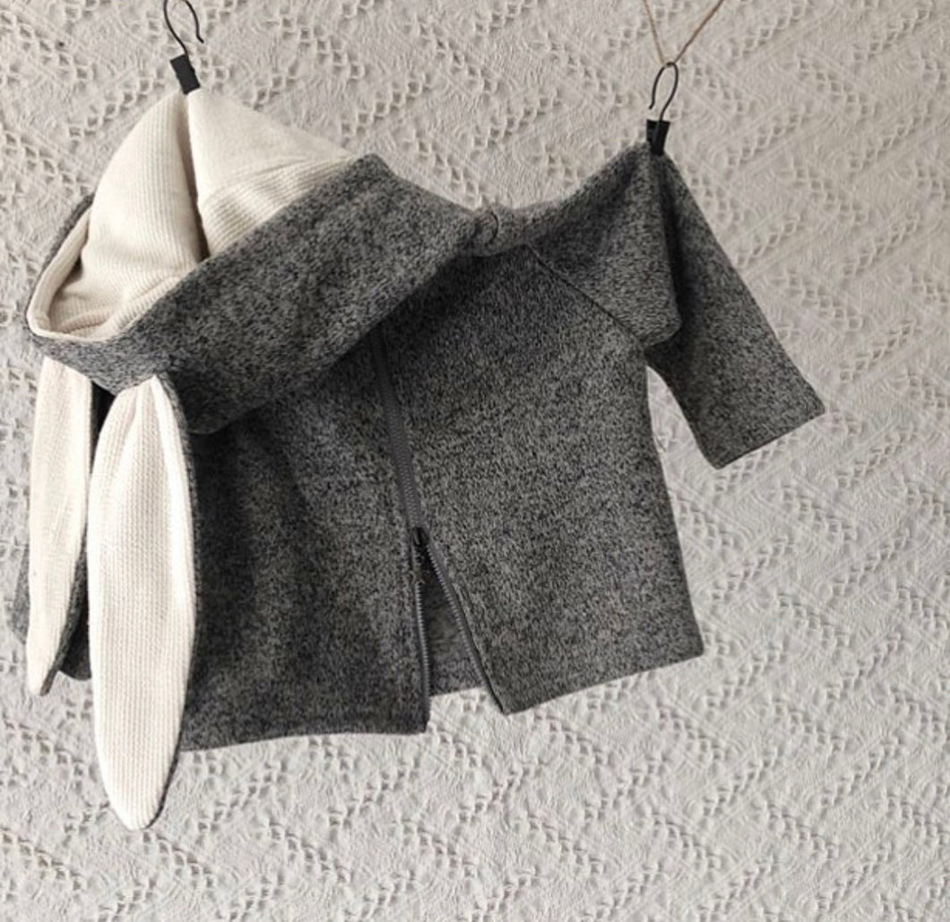 Gray rabbit sweater