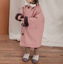 Load image into Gallery viewer, Pink Warm Long Coat