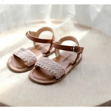 Load image into Gallery viewer, Pink braided sandals