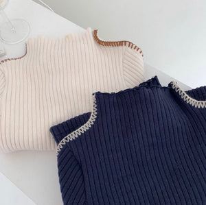 Ripped knit Tops