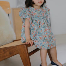 Load image into Gallery viewer, Blue floral frills dress