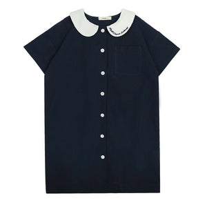Navy blue collar dress