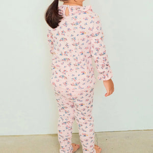 Floral frill cotton pajamas