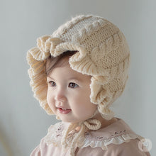 Load image into Gallery viewer, Knit frill hat
