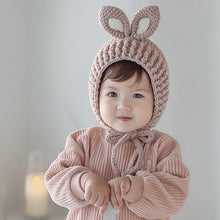 Load image into Gallery viewer, Rabbit pink knit hat