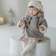 Load image into Gallery viewer, Gray quilt baby coat