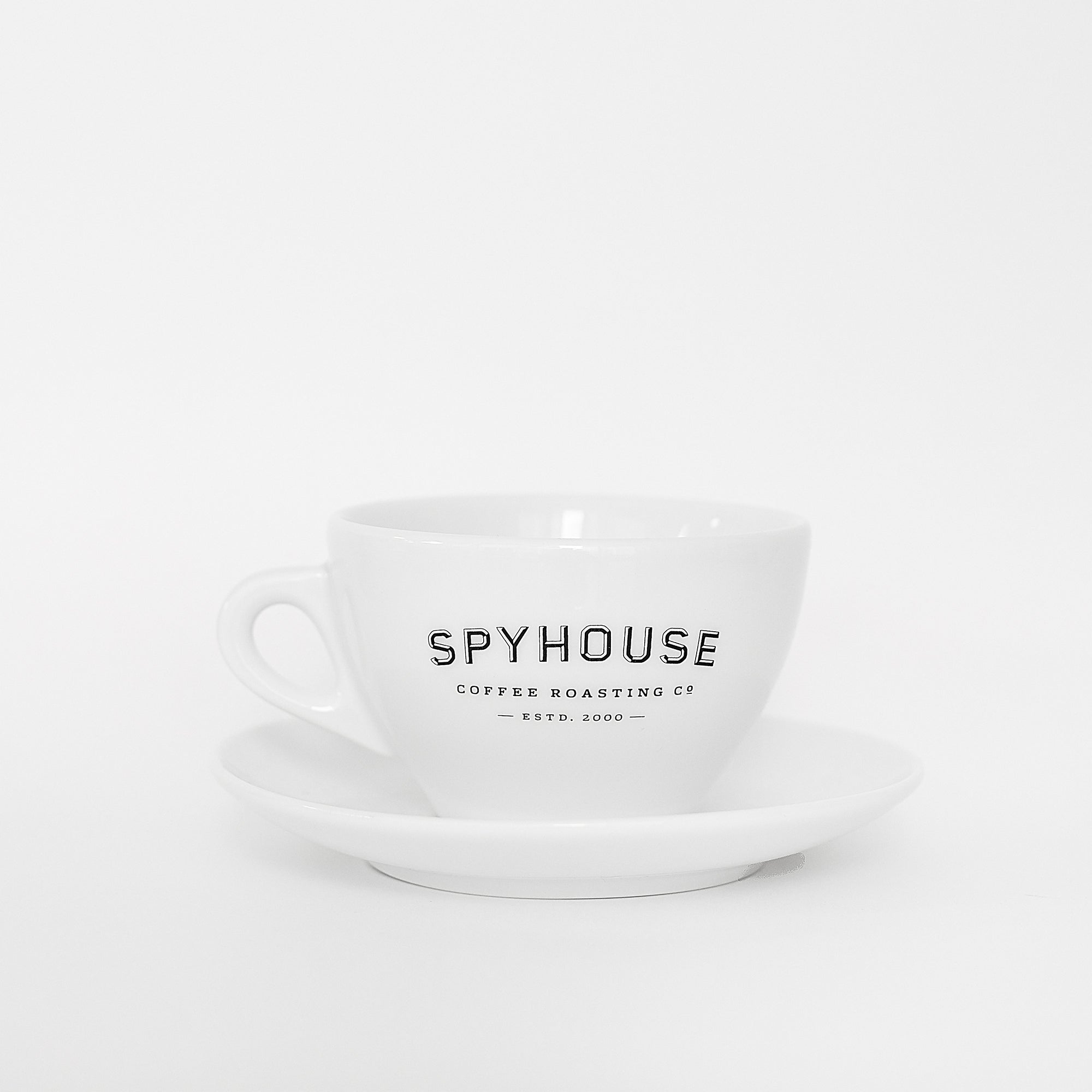 d'Ancap latte cup with saucer Spyhouse logo
