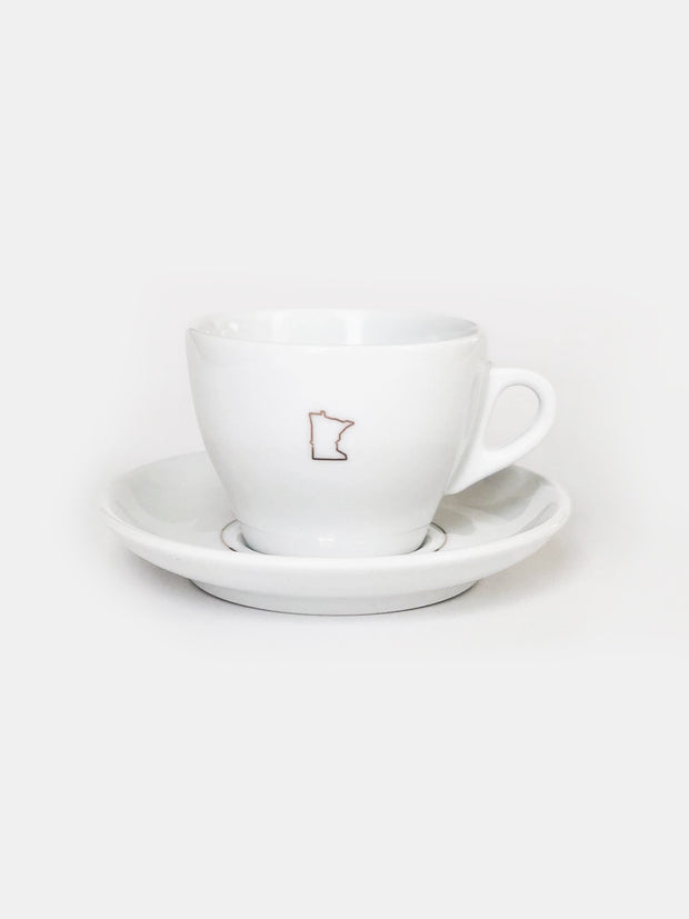 d'Ancap Cappuccino Cup with Saucer / Copper