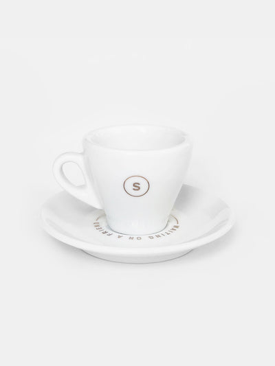 d'Ancap 'Waiting on a Friend' Espresso Cup & Saucer / Copper