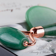 Jade Roller and Gua Sha Luxury Set with Countertop Stand