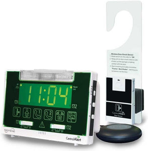 Centralalert Notification System Ca360h Vibrating Alarm Clock/receiver with Hanging Door Knock Sensor for Deaf or Hearing Loss Impaired Disabled