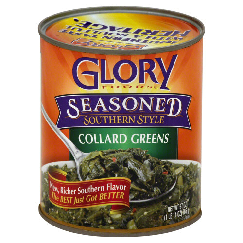 Glory Foods: Seasoned Collard Greens, 27 Oz