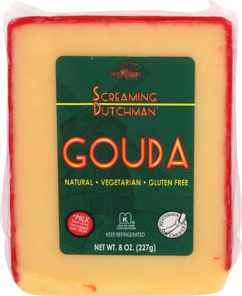 Screaming Dutchman: Cheese Wedge Gouda Red Wax, 8 Oz