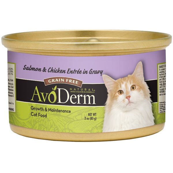 Avoderm: Salmon & Chicken Entree In Gravy Cat Food, 3 Oz