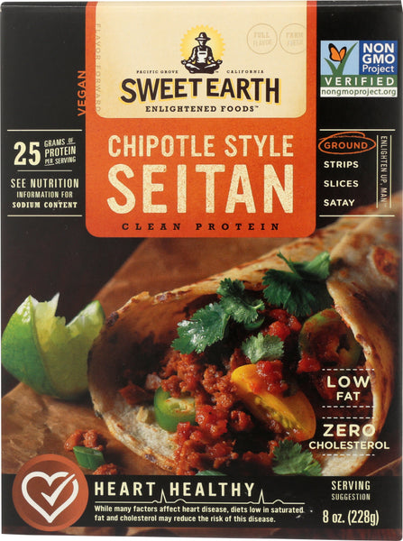 Sweet Earth: Ground Chipotle Style Seitan, 8 Oz