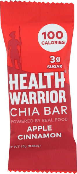 Health Warrior: Apple Cinnamon Chia Bar, 0.88 Oz