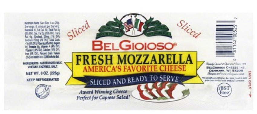 Belgioioso: Fresh Mozarrela Cheese Sliced 8 Oz