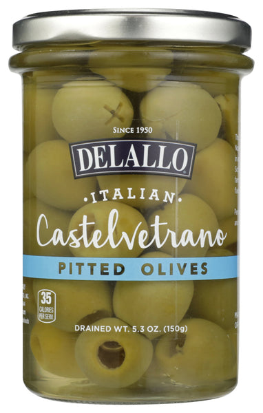 Delallo: Olives Pitted Castelvetrano, 5.3 Oz