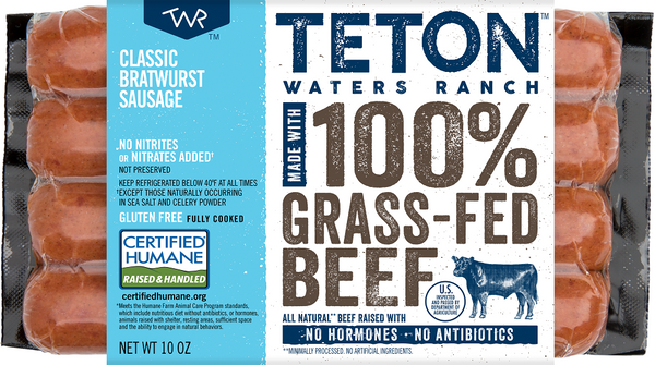 Teton Waters Ranch: Classic Bratwurst Sausage, 10 Oz