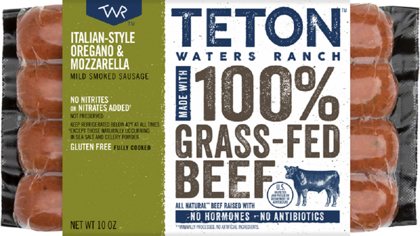 Teton Waters Ranch: Italian-style Oregano & Mozzarella Sausage, 10 Oz