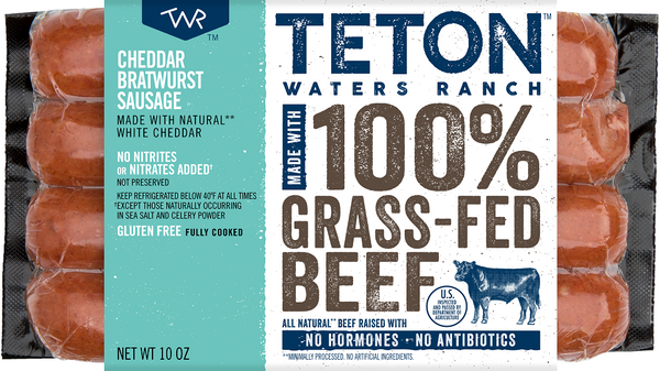 Teton Waters Ranch: Cheddar Bratwurst Sausage, 10 Oz