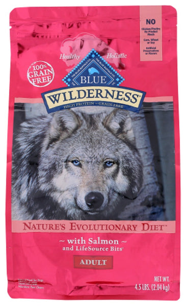 Blue Buffalo: Wilderness Adult Dog Food Salmon Recipe, 4.50 Lb